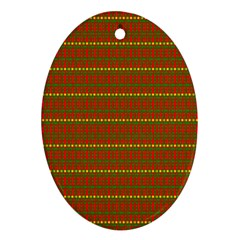 Fugly Christmas Xmas Pattern Oval Ornament (two Sides)