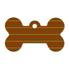 Fugly Christmas Xmas Pattern Dog Tag Bone (two Sides)