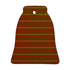 Fugly Christmas Xmas Pattern Bell Ornament (Two Sides)