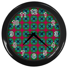 Geometric Patterns Wall Clocks (Black)