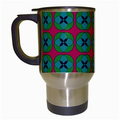 Geometric Patterns Travel Mugs (White)