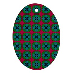 Geometric Patterns Oval Ornament (Two Sides)