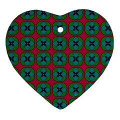 Geometric Patterns Heart Ornament (Two Sides)