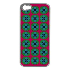 Geometric Patterns Apple iPhone 5 Case (Silver)