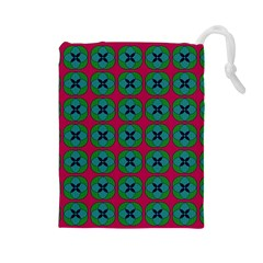 Geometric Patterns Drawstring Pouches (large)