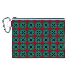 Geometric Patterns Canvas Cosmetic Bag (l)