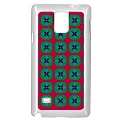 Geometric Patterns Samsung Galaxy Note 4 Case (white)
