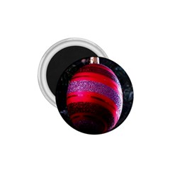 Glass Ball Decorated Beautiful Red 1.75  Magnets
