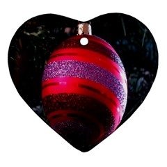 Glass Ball Decorated Beautiful Red Ornament (Heart)