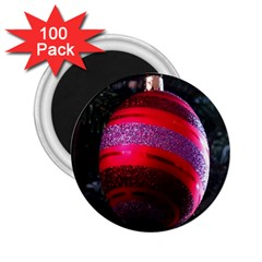 Glass Ball Decorated Beautiful Red 2.25  Magnets (100 pack)