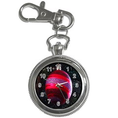 Glass Ball Decorated Beautiful Red Key Chain Watches