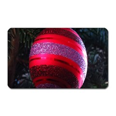 Glass Ball Decorated Beautiful Red Magnet (Rectangular)