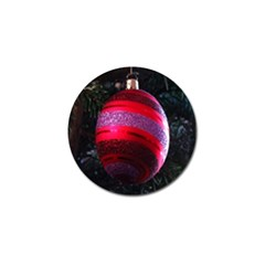 Glass Ball Decorated Beautiful Red Golf Ball Marker