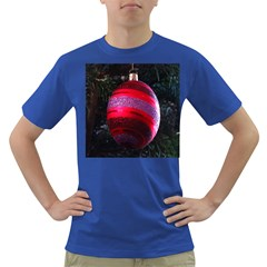 Glass Ball Decorated Beautiful Red Dark T-Shirt