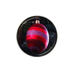 Glass Ball Decorated Beautiful Red Hat Clip Ball Marker (4 pack)