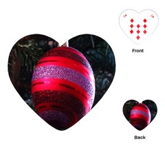 Glass Ball Decorated Beautiful Red Playing Cards (Heart)