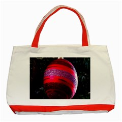 Glass Ball Decorated Beautiful Red Classic Tote Bag (red)