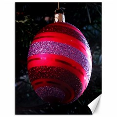 Glass Ball Decorated Beautiful Red Canvas 12  x 16