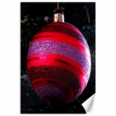 Glass Ball Decorated Beautiful Red Canvas 24  x 36