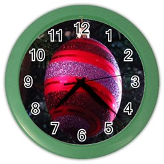 Glass Ball Decorated Beautiful Red Color Wall Clocks