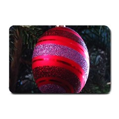 Glass Ball Decorated Beautiful Red Small Doormat