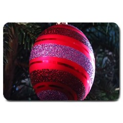 Glass Ball Decorated Beautiful Red Large Doormat