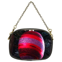 Glass Ball Decorated Beautiful Red Chain Purses (Two Sides)