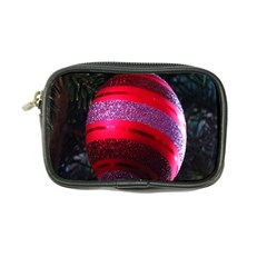 Glass Ball Decorated Beautiful Red Coin Purse