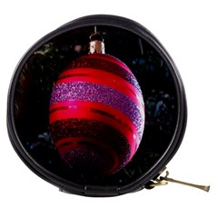 Glass Ball Decorated Beautiful Red Mini Makeup Bags