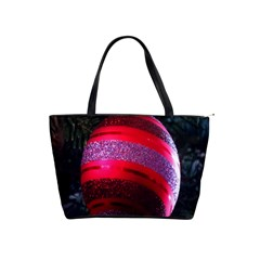 Glass Ball Decorated Beautiful Red Shoulder Handbags