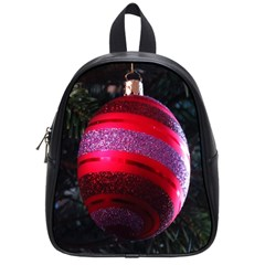 Glass Ball Decorated Beautiful Red School Bags (Small)