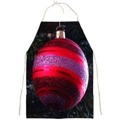 Glass Ball Decorated Beautiful Red Full Print Aprons