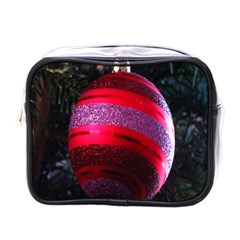 Glass Ball Decorated Beautiful Red Mini Toiletries Bags