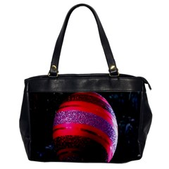 Glass Ball Decorated Beautiful Red Office Handbags