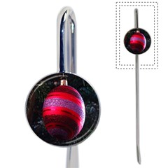 Glass Ball Decorated Beautiful Red Book Mark