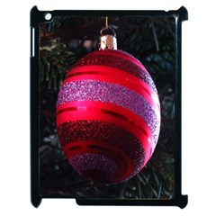 Glass Ball Decorated Beautiful Red Apple iPad 2 Case (Black)