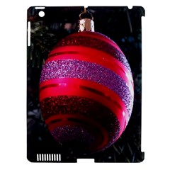 Glass Ball Decorated Beautiful Red Apple Ipad 3/4 Hardshell Case (compatible With Smart Cover)