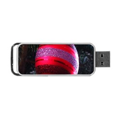 Glass Ball Decorated Beautiful Red Portable Usb Flash (two Sides)