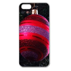 Glass Ball Decorated Beautiful Red Apple Seamless Iphone 5 Case (clear)