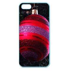 Glass Ball Decorated Beautiful Red Apple Seamless Iphone 5 Case (color)