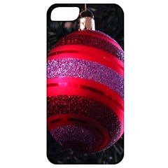 Glass Ball Decorated Beautiful Red Apple Iphone 5 Classic Hardshell Case