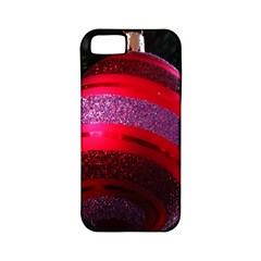 Glass Ball Decorated Beautiful Red Apple iPhone 5 Classic Hardshell Case (PC+Silicone)