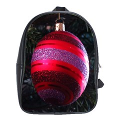 Glass Ball Decorated Beautiful Red School Bags (xl)