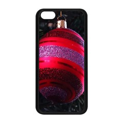 Glass Ball Decorated Beautiful Red Apple Iphone 5c Seamless Case (black)