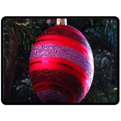 Glass Ball Decorated Beautiful Red Double Sided Fleece Blanket (large)
