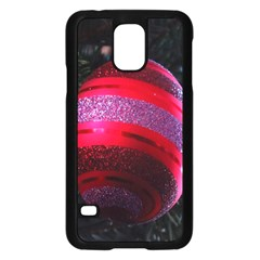 Glass Ball Decorated Beautiful Red Samsung Galaxy S5 Case (black)