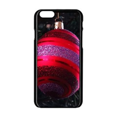 Glass Ball Decorated Beautiful Red Apple Iphone 6/6s Black Enamel Case
