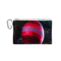 Glass Ball Decorated Beautiful Red Canvas Cosmetic Bag (s)