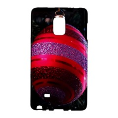 Glass Ball Decorated Beautiful Red Galaxy Note Edge