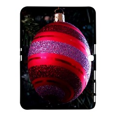 Glass Ball Decorated Beautiful Red Samsung Galaxy Tab 4 (10.1 ) Hardshell Case